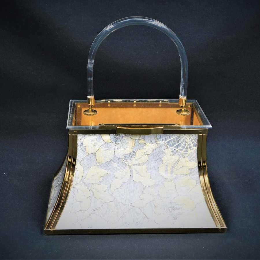 Stunning Majestic USA Lucite Bag