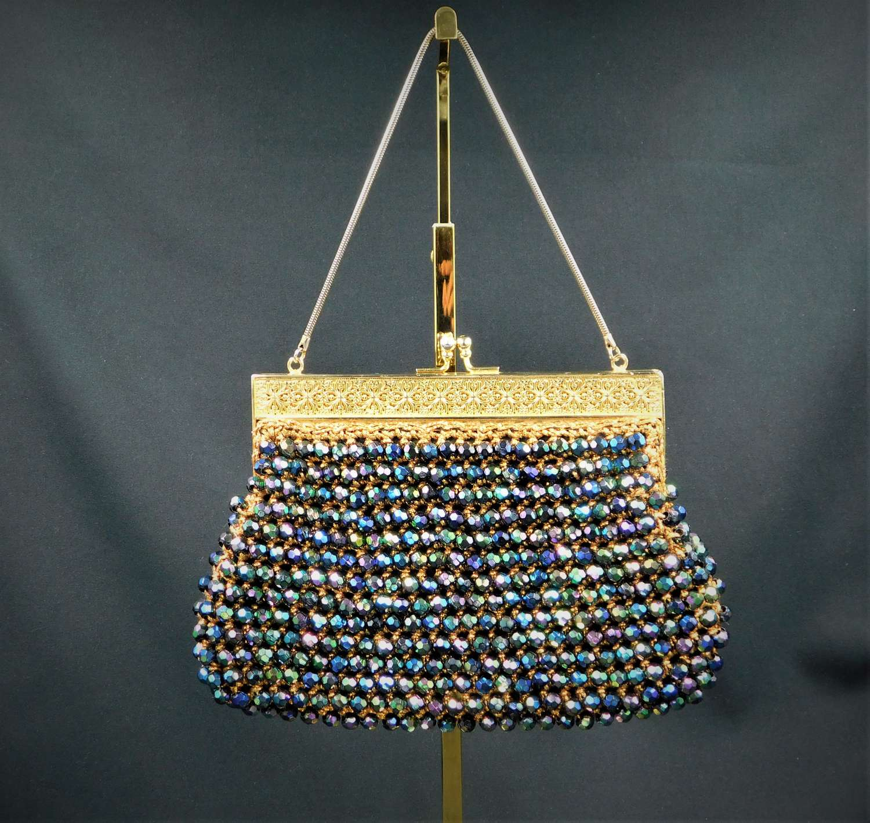 1950's Aurora Borealis Beaded Bag