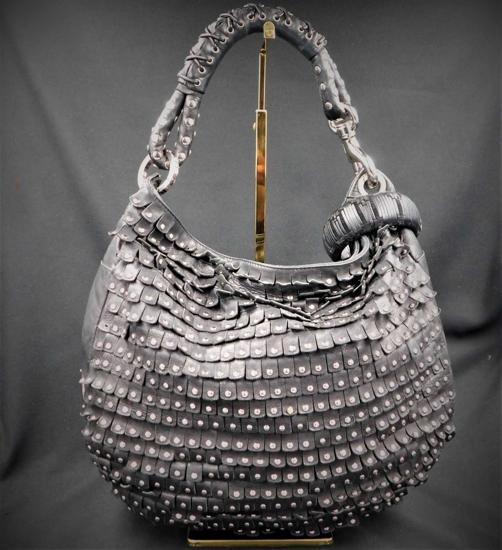 Jimmy Choo Sky Studded Fringe Hobo Bag