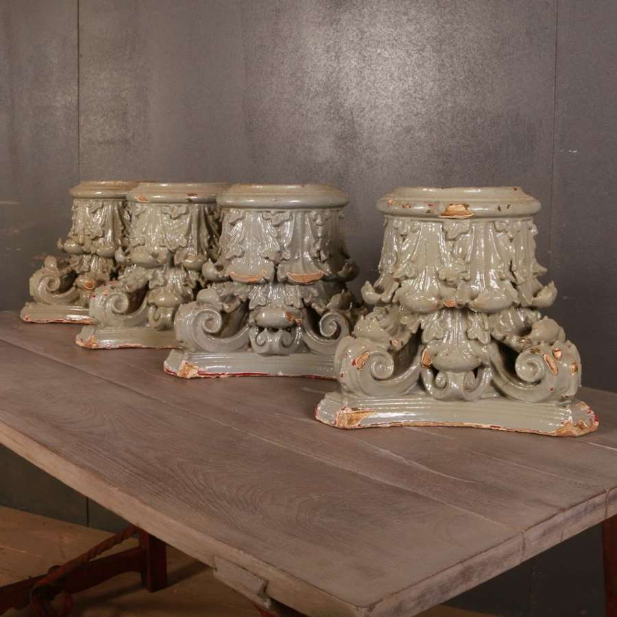 Set of English Carved Capitals