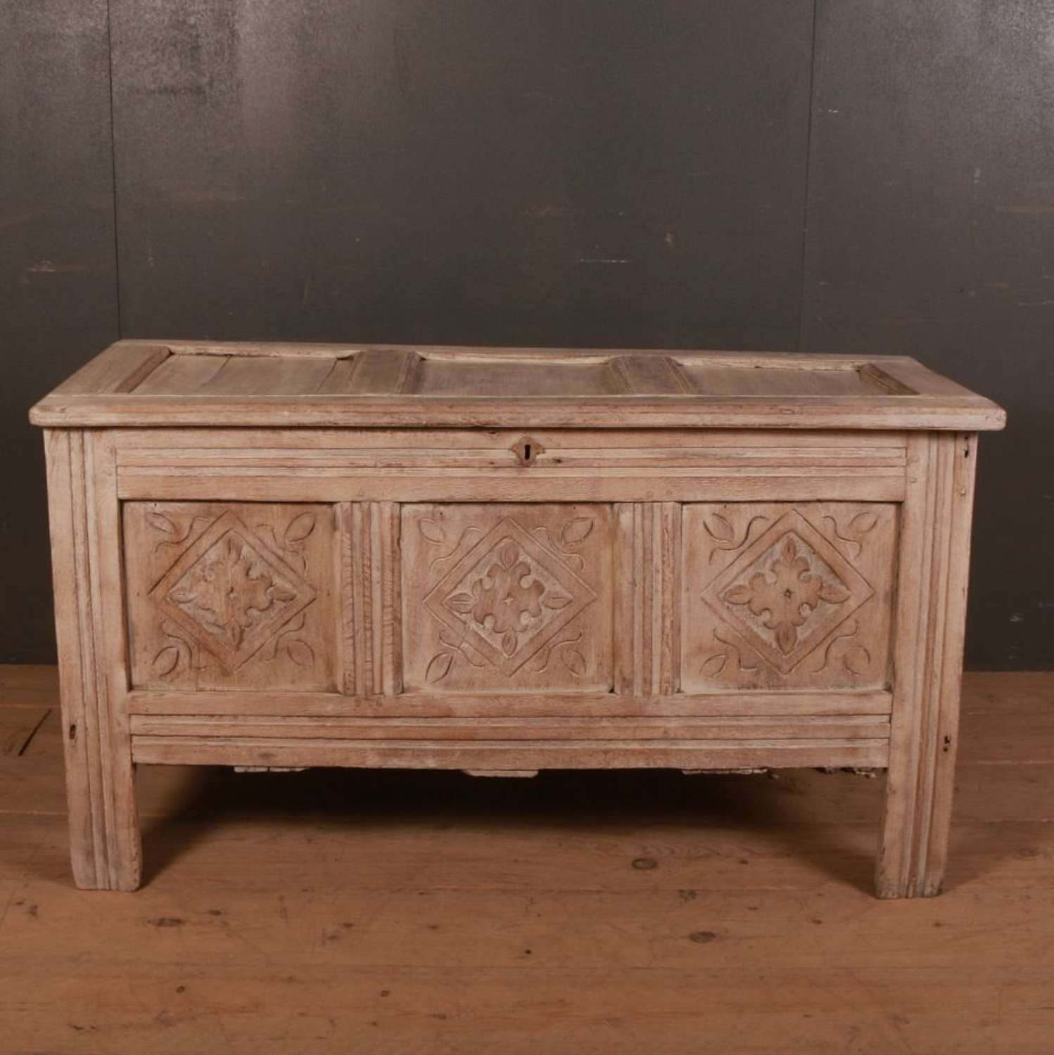 Bleached Oak Storage/ Blanket Chest