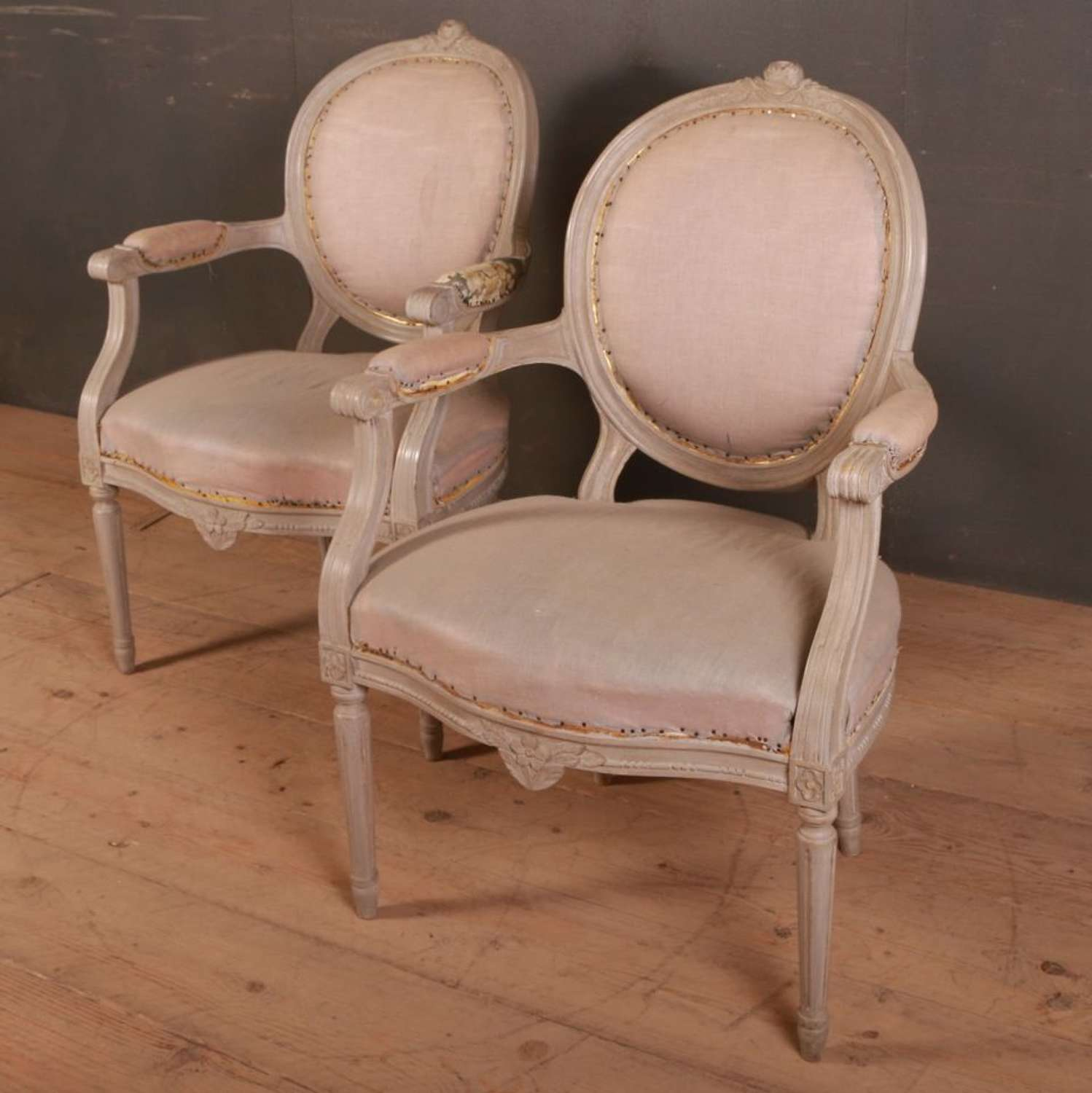 Pair of French Salon Armchairs