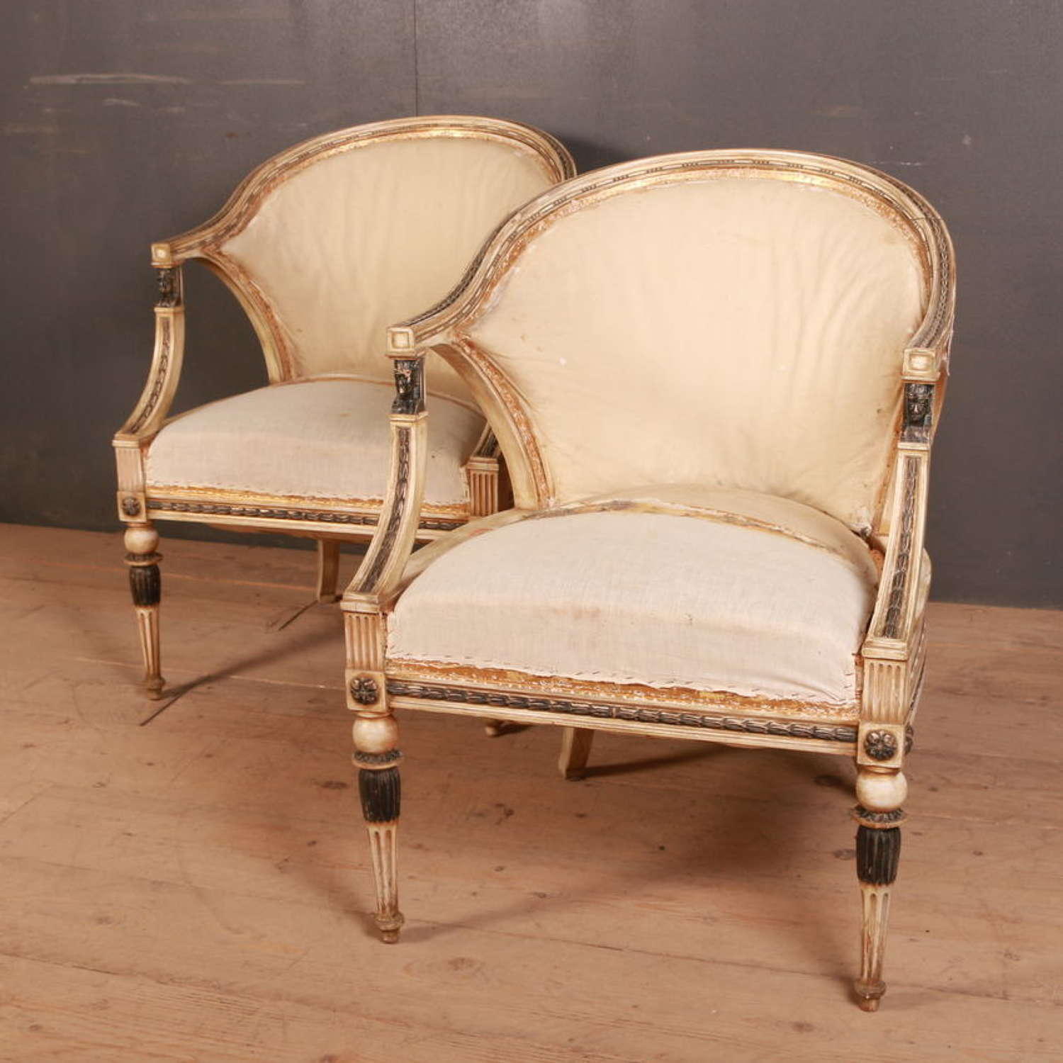 Swedish Empire Style Armchairs