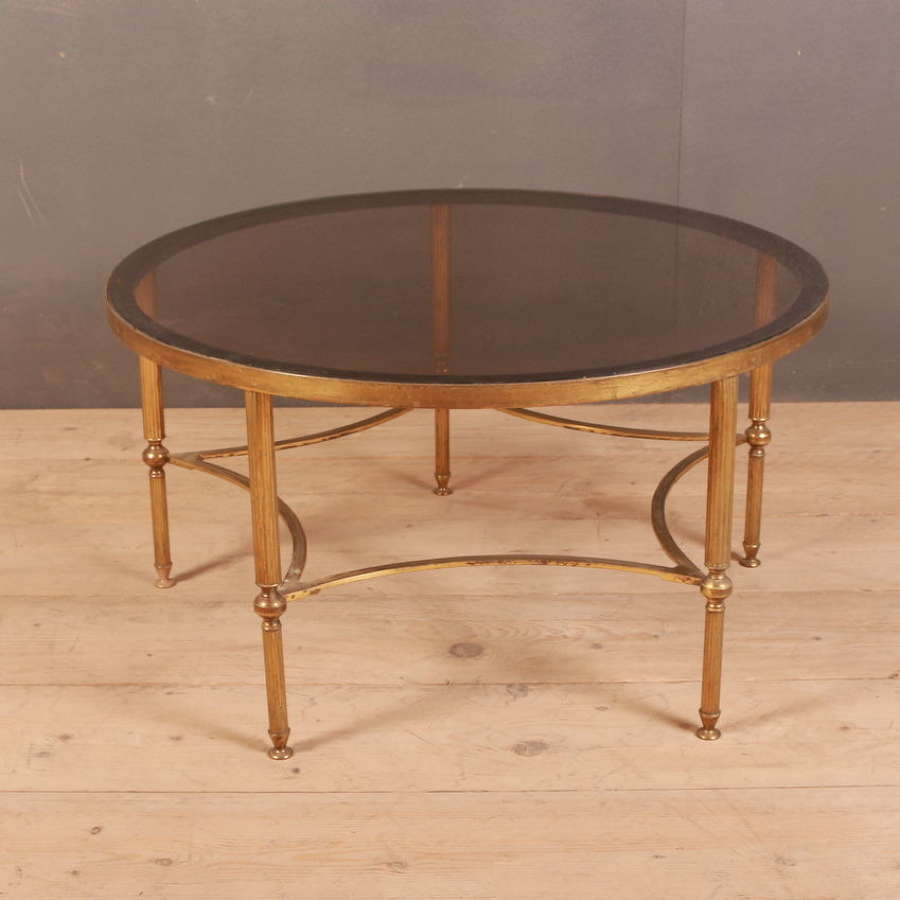 French Brass & Glass Coffee Table