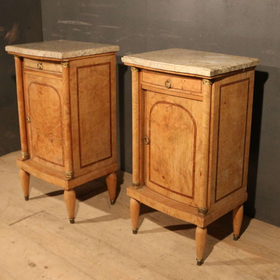 Pair of Antique French Bedside Cabinets