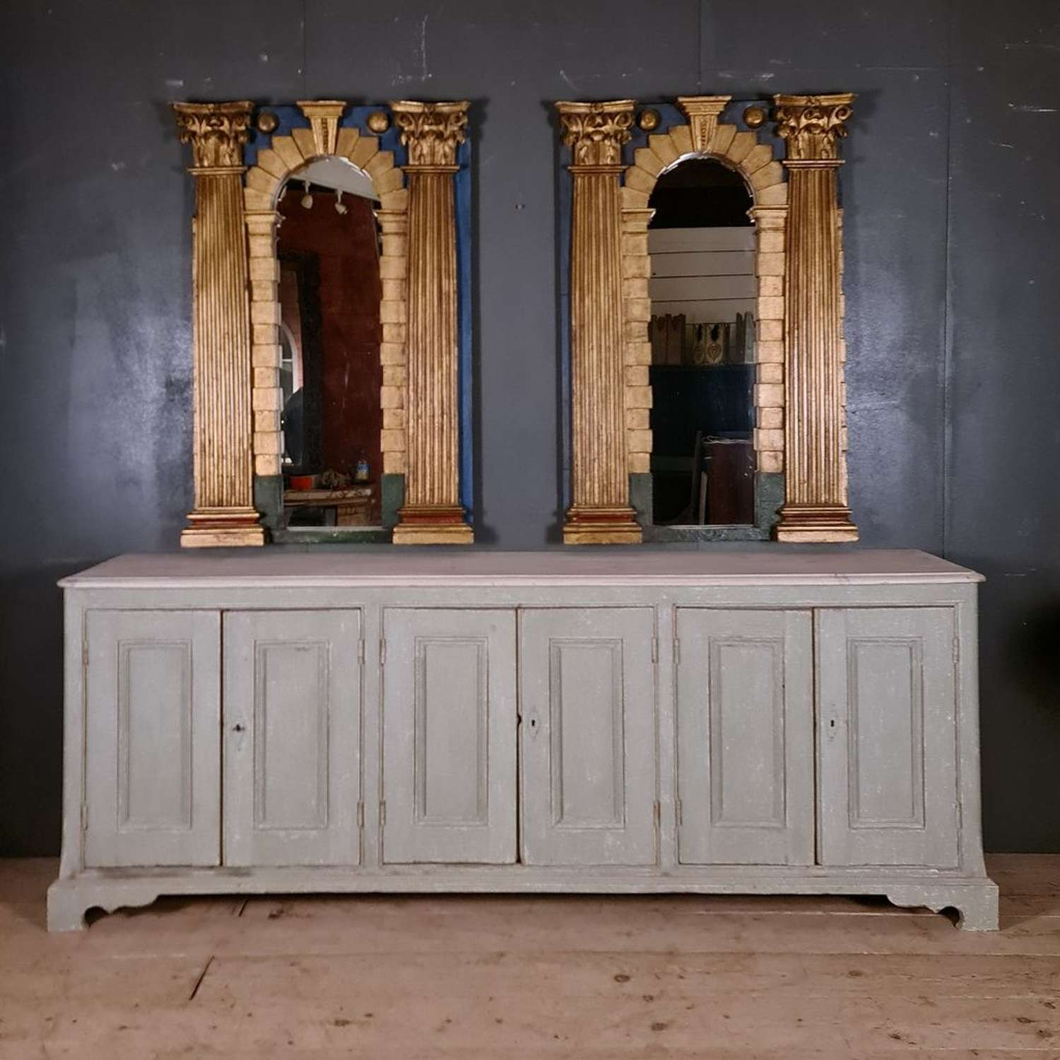 Pair of Italian Architectural Mirrors