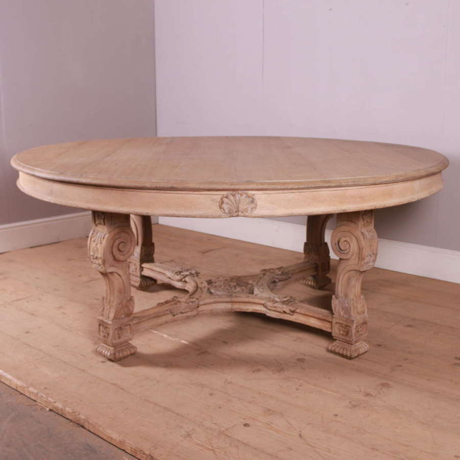 Large French Carved Oak Dining / Centre Table