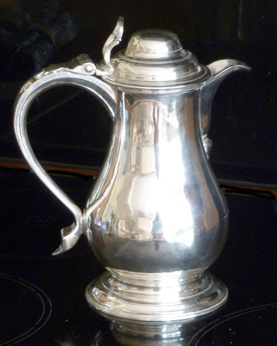 6535 A fine and early George III silver wine or beer jug