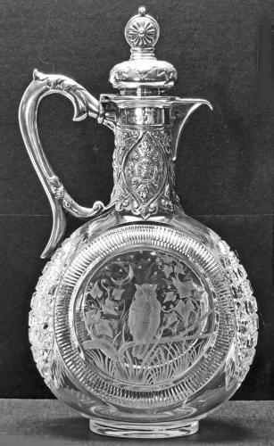 6542 A fine Victorian silver-mounted claret jug