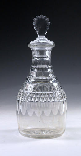 5086 A good 'prussian' decanter with a tasting stopper