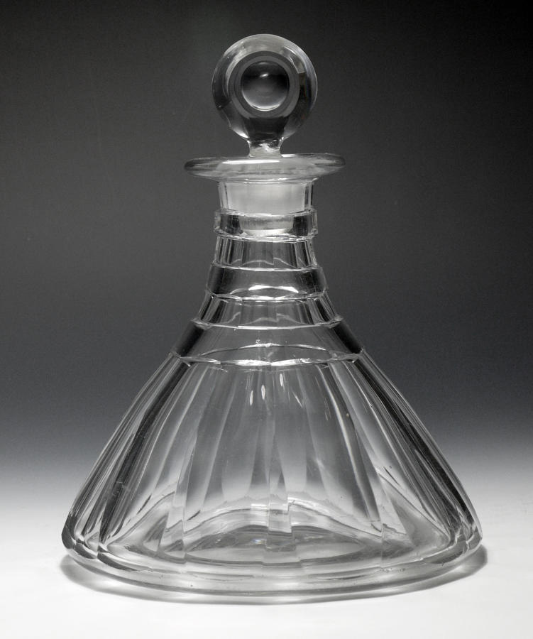 3025 A fine conical ship's decanter