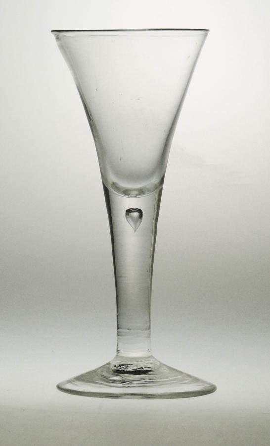 4057 A mid-18th century drawn trumpet' wine goblet