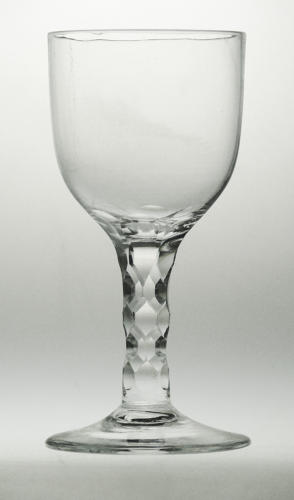 4064 A fine facet stem Georgian goblet