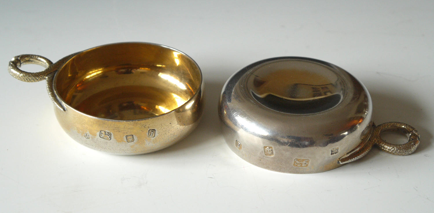 5224 A pair of silver-gilt wine tasters by Richard Comyns