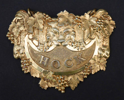 9872 An important silver-gilt wine label for Hock