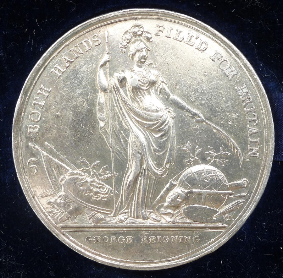 A silver medal for the lottery of the Jernegan wine cistern