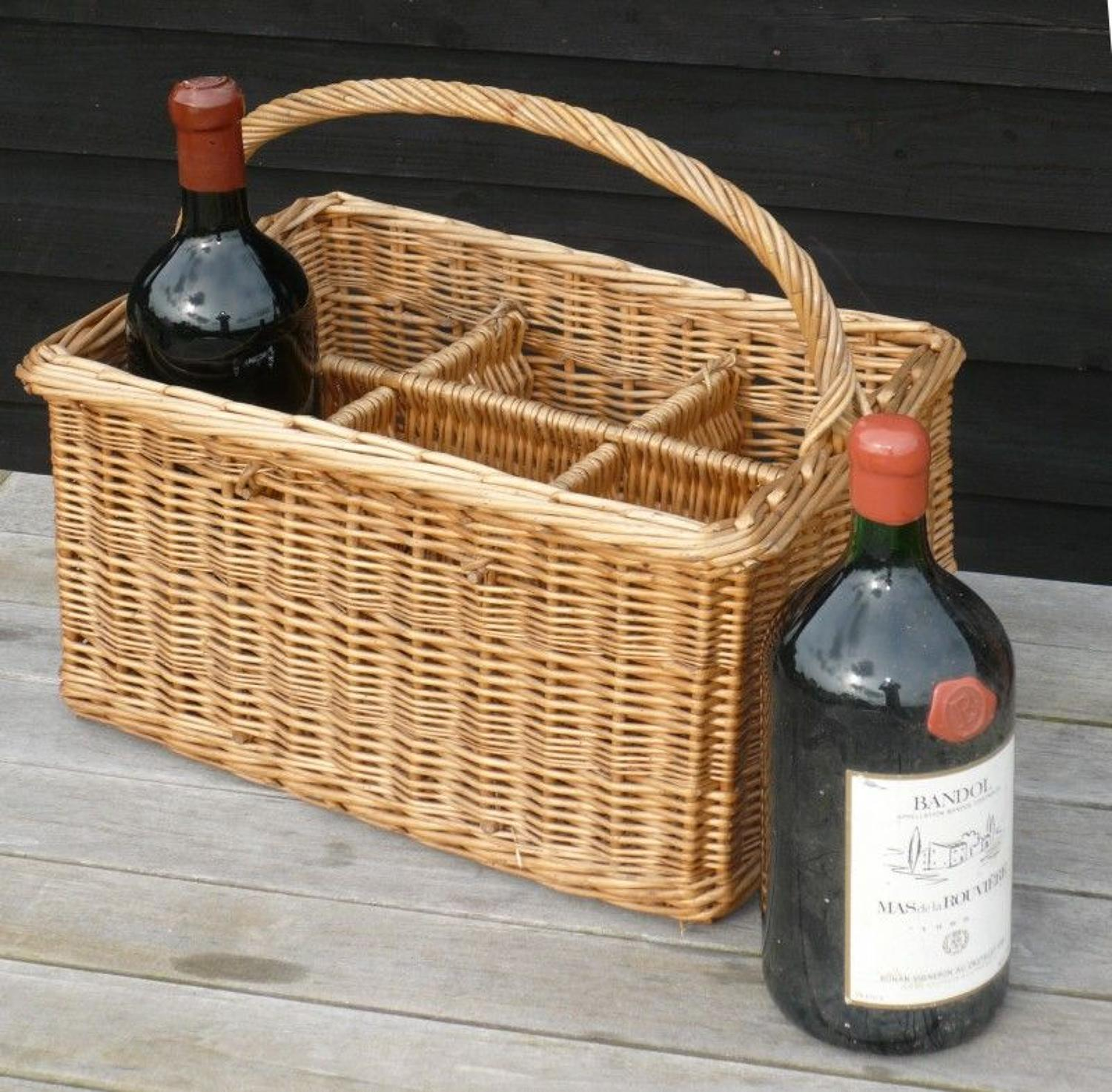 9869 A bottle basket for six double magnums