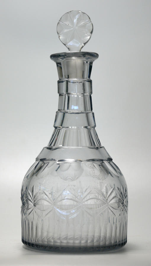 6584 A high-quality cut George III decanter