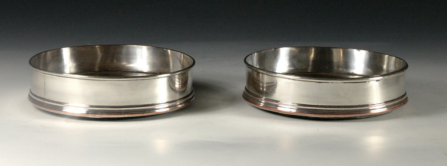 A pair of Old Sheffield plated coasters