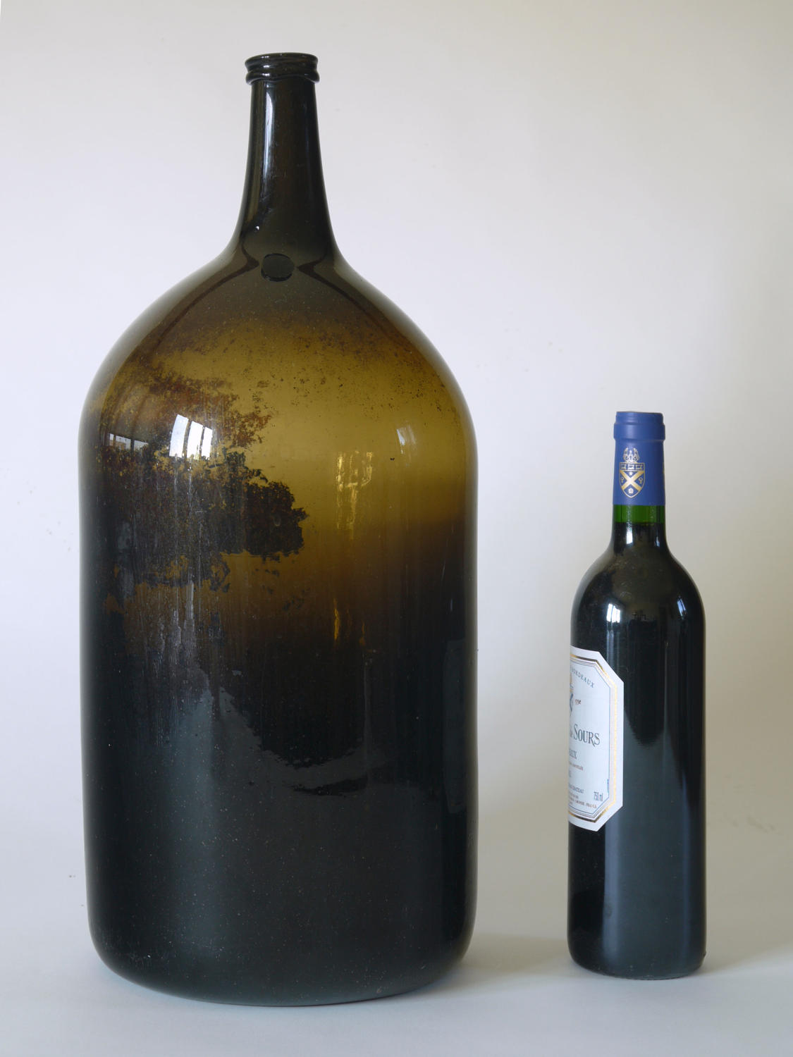 A giant wine bottle