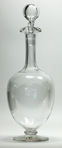 6591 A Royal etched ovoid decanter