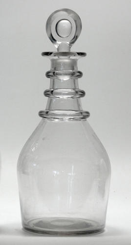 6594 A plain 'prussian decanter with target stopper