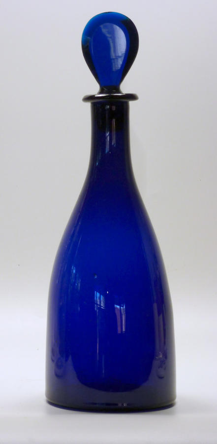 6597 A Georgian 'Bristol blue' taper decanter