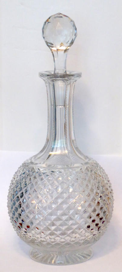 6632 A cut shaft & globe magnum decanter