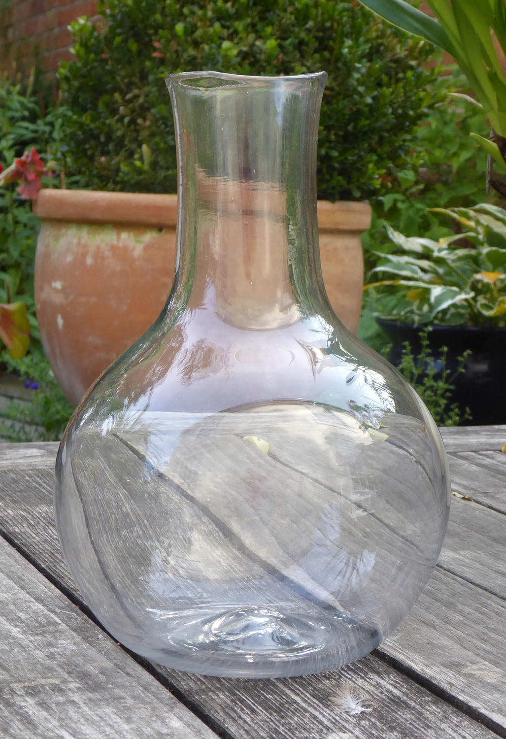 6633 A rare early and unusual magnum carafe