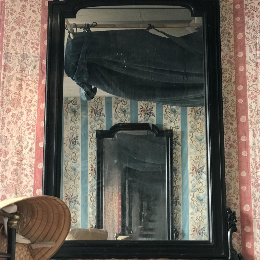One of a neat pair of 19th century Mallorquin Ebonised Mirror