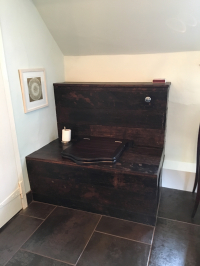 Toilet recreated from the oak floorboards