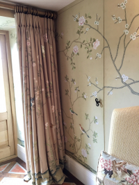 Bespoke Curtains Designed to Follow the Wallpaper Pattern