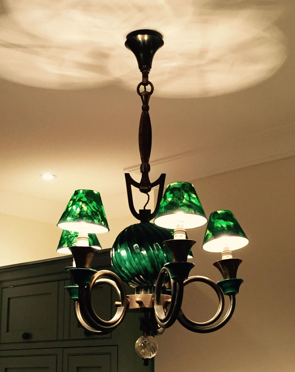 Green Ceiling Light - Antique