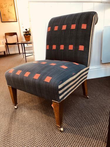 Edwardian Style Slipper Chair