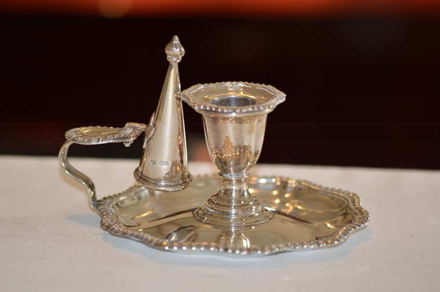 A late Victorian Silver Chamber Candlestick by Martin Hall & Co, Sheff