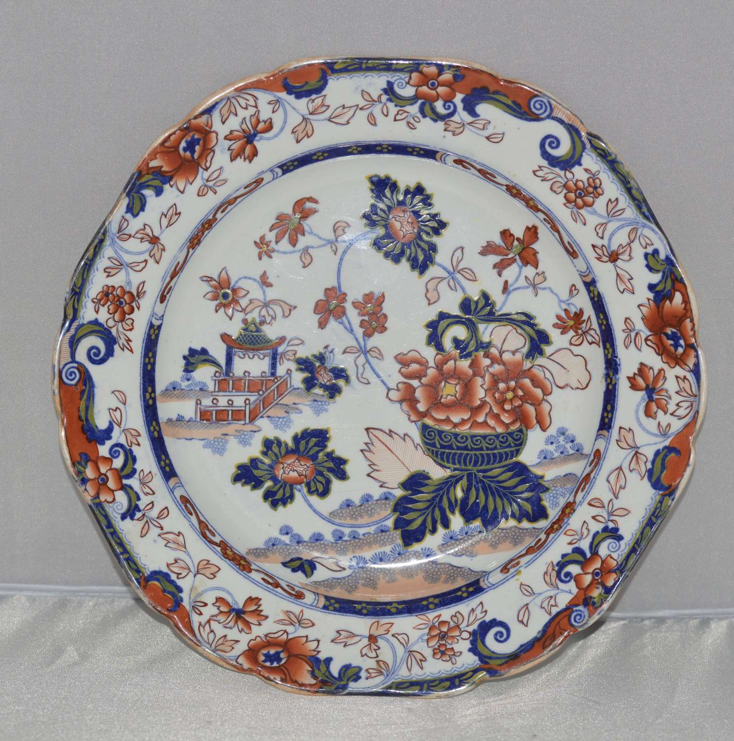 Victorian Amherst Japan Stone Ware Plate c1840