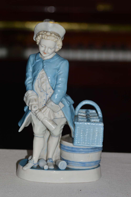 1887/1900 Sitzendorf Figurine of man drinking wine
