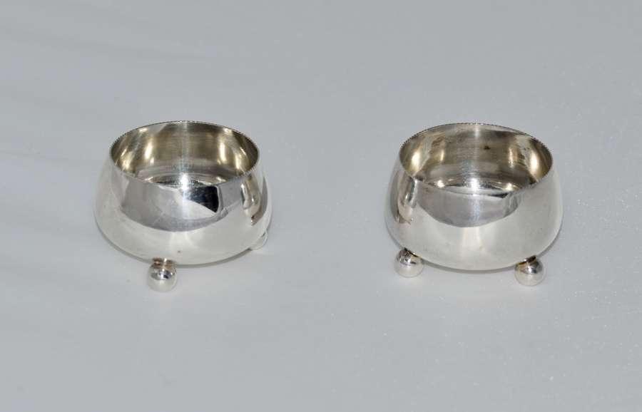 1881 Pair of Solid Silver Salts - Birmingham - B H Joseph
