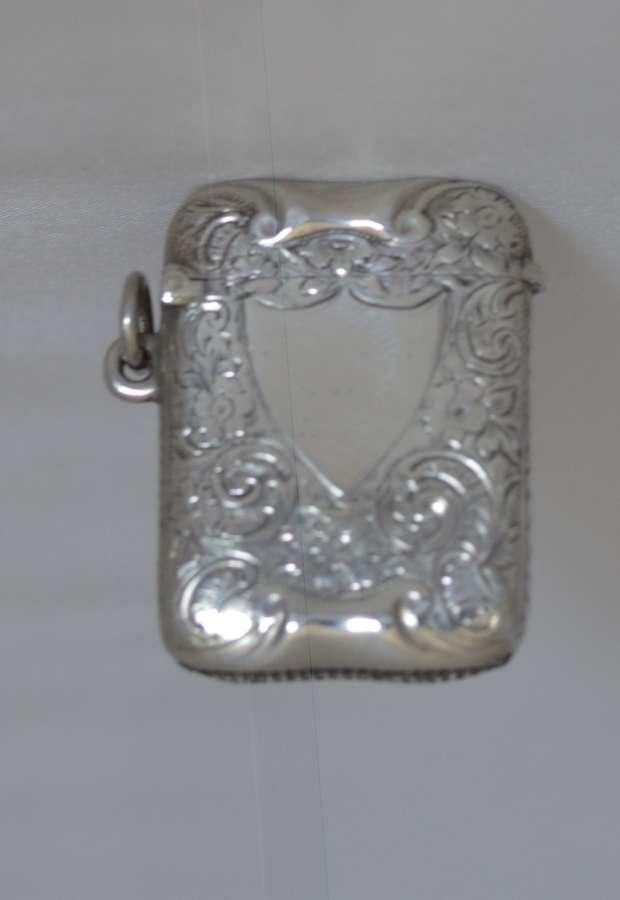 1901 Silver Vesta Case by Birmingham Silversmith Henry Matthews