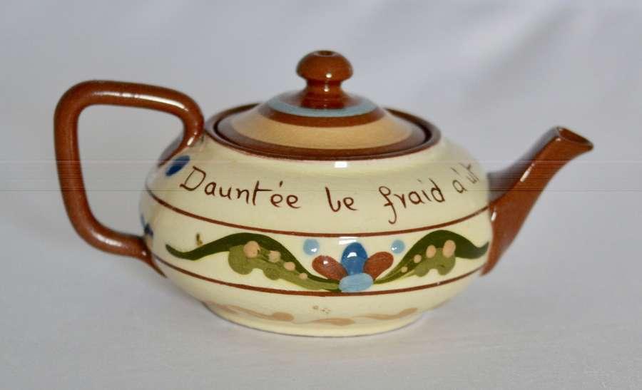 1885 / 1887 Early & Rare Torquay Pottery Tea Pot