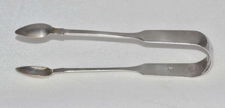 Georgian Silver Sugar Tongs by Thomas Streetin in London in 1823