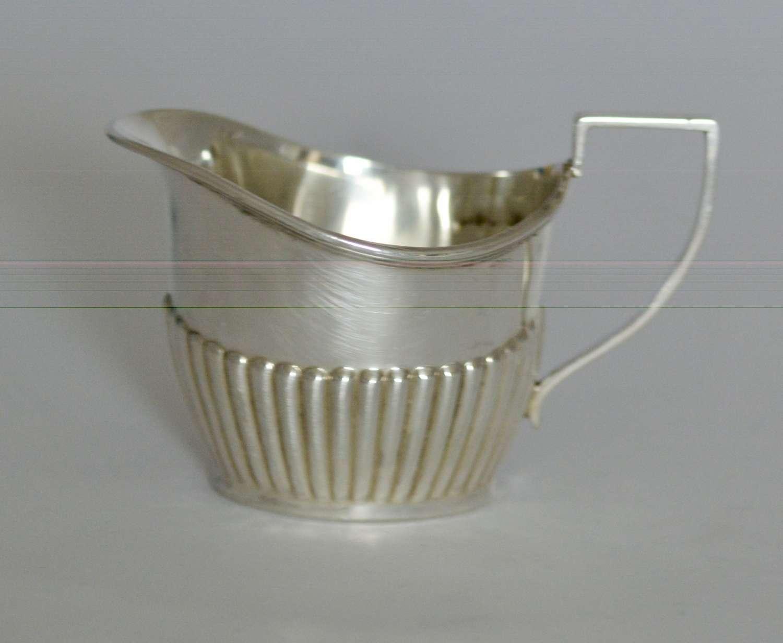 1915 Edwardian Silver Cream Jug by Francis Howard of Sheffield
