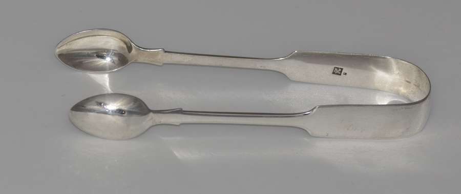 Victorian Sterling Silver Sugar Tongs by James & Josiah Williams 1860