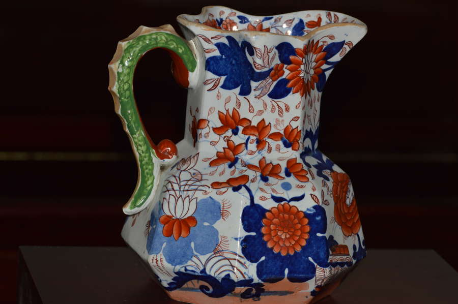 A substantial 19th Century Masons Ironstone Hydra Jug or Pitcher