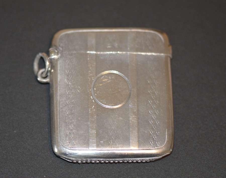 1912 Silver Vesta Case by William Neale & Sons Ltd of Birmingham