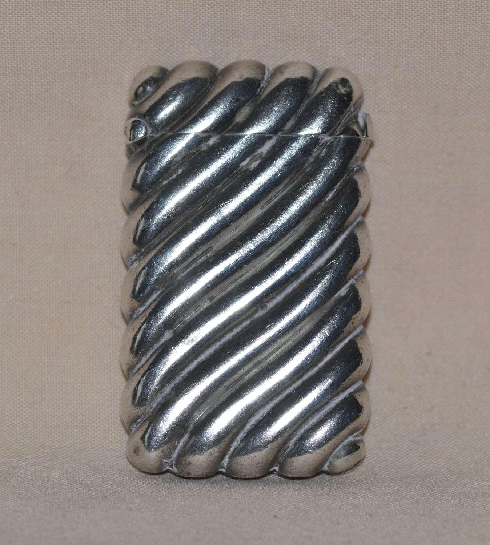 Early 20th Century Silver Vesta Case by William Neale of Birmingham