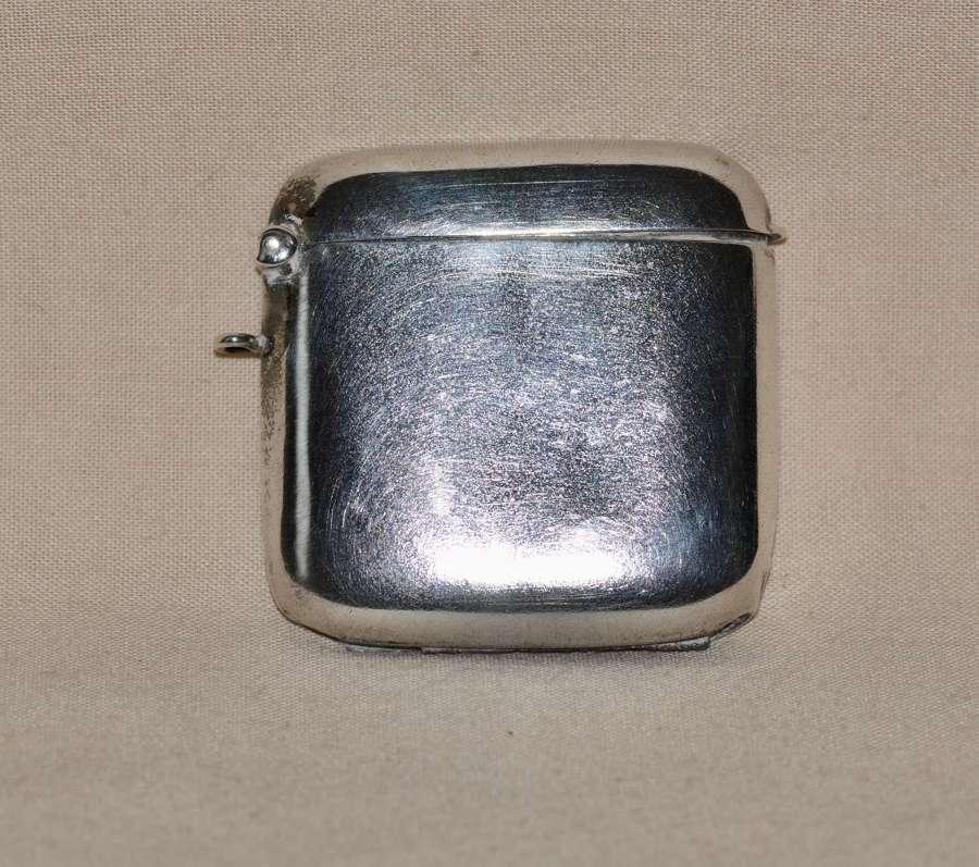 1909 Edwardian Birmingham Silver Vesta Case