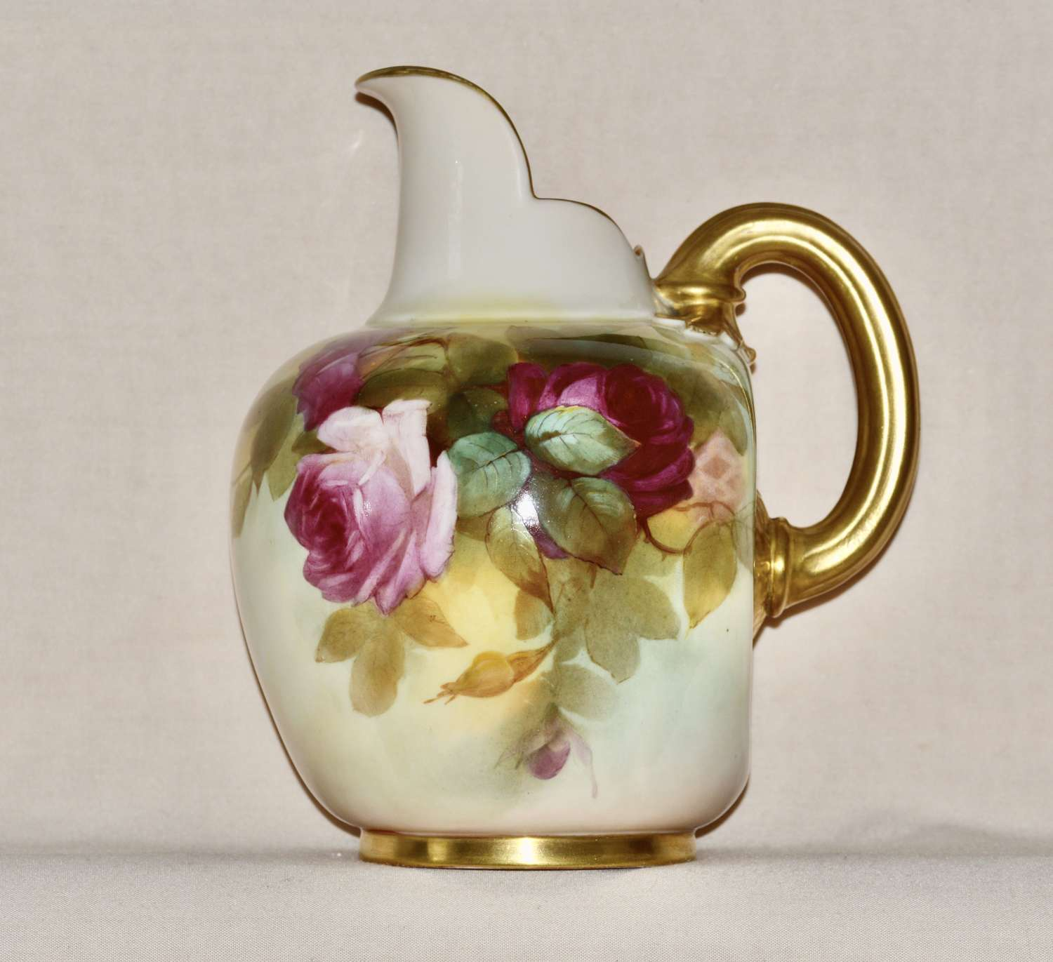An 1887 Large Royal Worcester Porcelain Ewer
