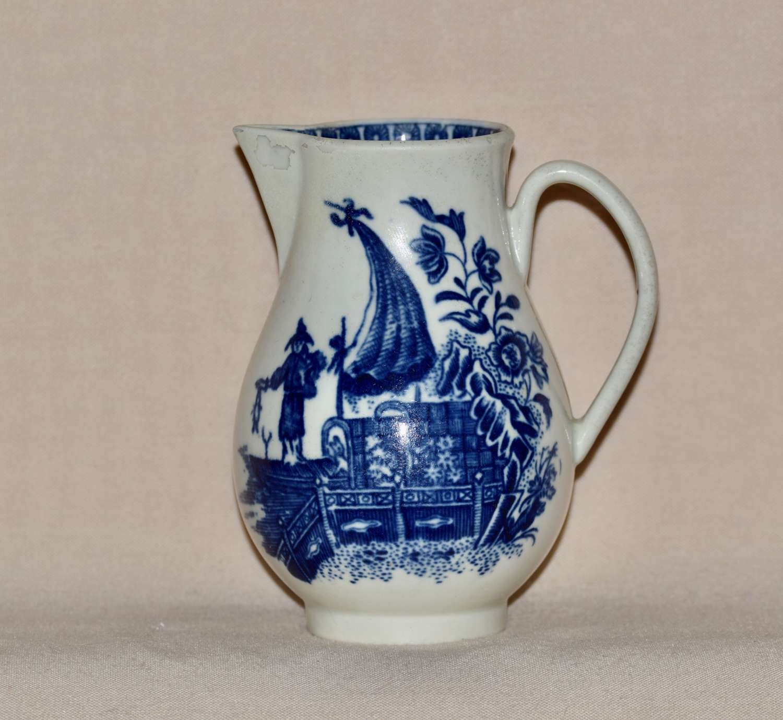 "An 18th Century Worcester Porcelain ""Fisherman & Cormorant"" Patter"