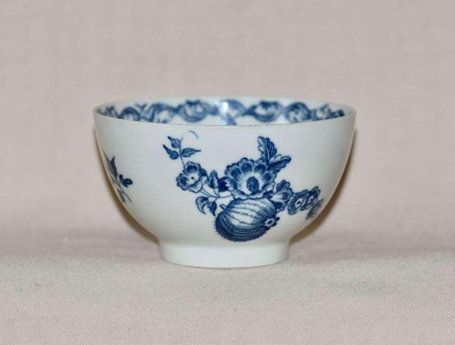 "18th Century Worcester Porcelain Teabowl ""Fruit & Wreath"" pattern"